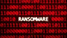 Ransomware Text On Random Bina...