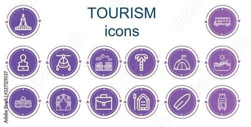Fototapeta Editable 14 tourism icons for web and mobile