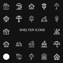 Editable 22 Shelter Icons For Web And Mobile
