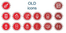 Editable 14 Old Icons For Web ...
