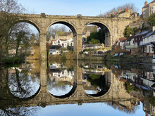 Knaresborough Railway Viaduct Winter River Reflection