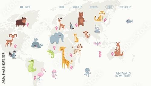 mapa-swiata-zwierzat-ilustracji-wektorowych
