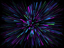 3D Abstract Starburst Backgrou...
