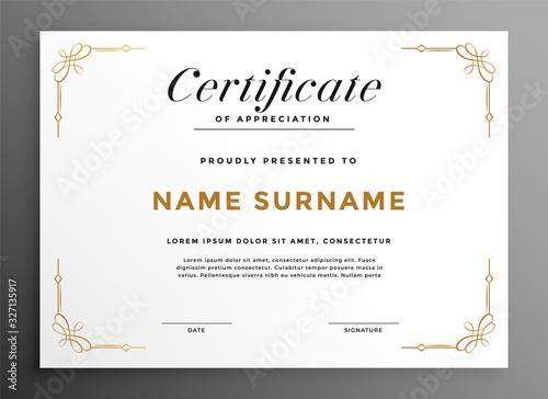 classic white multipurpose certificate template design concept Tablou Canvas