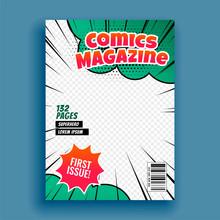 Comic Magazine Book Cover Page Template Design