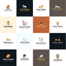 Pack Of Horse Logos Vectors