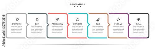 Obraz Vector infographic template - fototapety do salonu