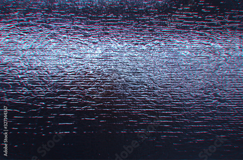 Shiny heat-retaining foil with chromatic aberration Wallpaper Mural