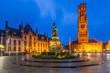 Belgium, Bruges, Grote Markt square.