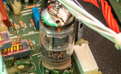Electrical assembly with tube on a circuit board with electrical components and Canvas Print