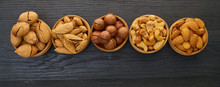 Set Of Nuts In A Bowl