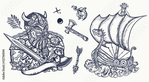 wikingowie-kolekcja-tatuazy-sredniowieczna