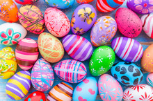 Beautiful Colorful Easter Eggs...