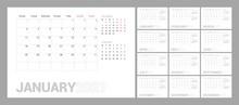 Wall Calendar Template For 202...