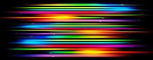 Panoramic Glowing Blurred Ligh...