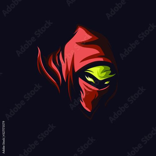 Assasin logo design, isolated mascot assassin vector, mascot or logo for game community Canvas Print