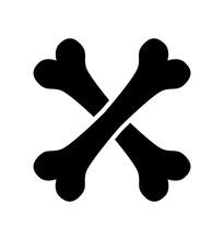 Crossbone Vector Icon Isolated...