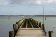 old pier in winter