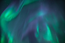 Huge Green And Purple Northern Lights