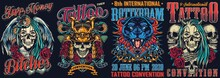 Vintage Tattoo Fests Colorful ...
