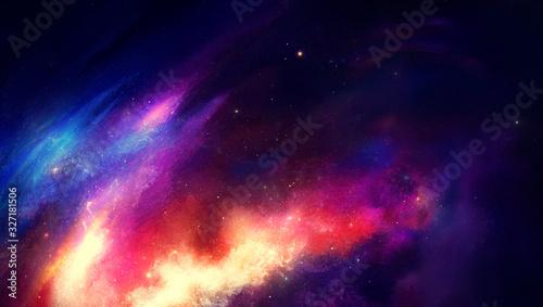 Obraz na plátně Nebula on a background of outer space