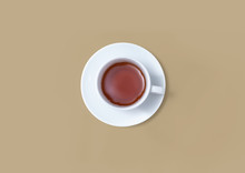 A Cup Of Tea Overhead View - Flat Lay