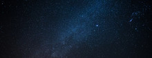 Milky Way Galaxy With Star And Noise Blue Background,Abstract Milky Way Galaxy With Stars For Background