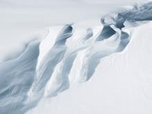 Crevasse In Snowy Landscape