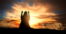Silhouette Of A Muslim Woman P...