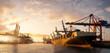 Leinwandbild Motiv Hamburg Container Hafen