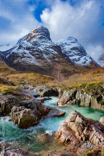 Fototapeta River Coe, Glencoe, Highlands, Scotland. obraz