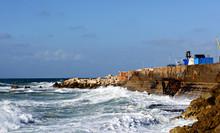 Coast Of Sea In Jaffa, Tel Aviv