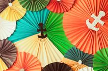 Multicolored Paper Background....