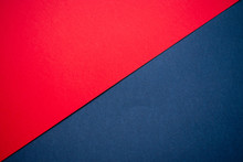 Candy Red And Denim Blue Cardboard Background
