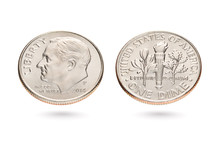 Both Sides Of Ten US Cents Or ...