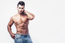 Male Shirtless Model With Perf...
