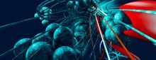 3D Rendering Of Abstract Virus Bacteria