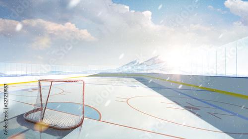 Hockey arena Canvas Print