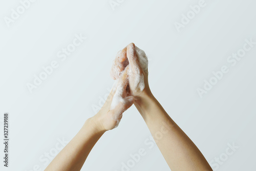 wash your hands. Hygiene. Hand clean to prevent infection. Fototapet