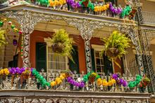 Mardi Gras On Buildings In New...