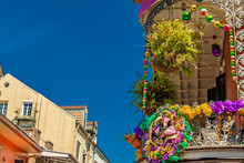 Mardi Gras On Buildings In New Orleans