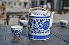 Blue And White Porcelain Teapo...