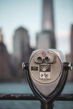 Closeup Of Binoculars On A Bac...