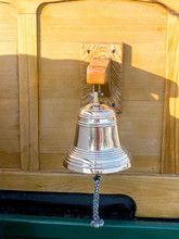Brass Bell On An Old Ship