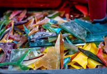 Shards Of Stained Glass Pieces