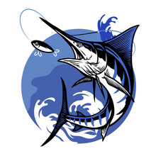 Blue Marlin Fishing Design