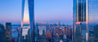 New York City WTC in sunset, aerial photography