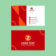 Red Elegant Business Card Template