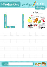 Letter L Uppercase And Lowercase Tracing Practice Worksheet A4