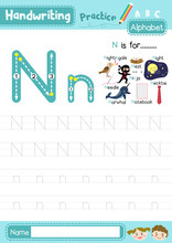 Letter N Uppercase And Lowerca...